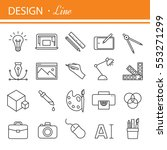graphic design icons  symbols.... | Shutterstock . vector #553271299