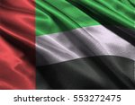 uae nation flag  3d... | Shutterstock . vector #553272475