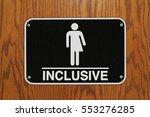 gender neutral sign for the...   Shutterstock . vector #553276285