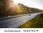highway and natural landscape.... | Shutterstock . vector #553279279