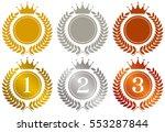 crown. gold medal. silver medal.... | Shutterstock .eps vector #553287844