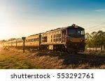 vintage steam engine locomotive ... | Shutterstock . vector #553292761