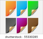 set of vector stickers on gray... | Shutterstock .eps vector #55330285