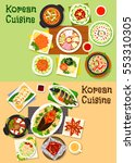 korean and asian cuisine icon... | Shutterstock .eps vector #553310305