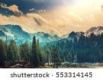sierra nevada mountains | Shutterstock . vector #553314145