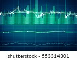 financial data on a monitor.... | Shutterstock . vector #553314301