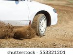 rally car turning in track | Shutterstock . vector #553321201