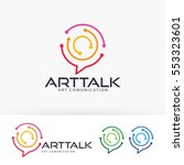 art talk  abstract  technology  ... | Shutterstock .eps vector #553323601