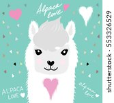 Alpaca With Heart Portrait