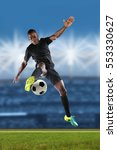 african american soccer player... | Shutterstock . vector #553330627