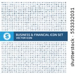 business and finance icon set... | Shutterstock .eps vector #553332031