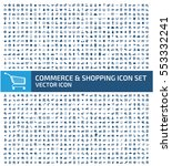 commerce and shopping icon set... | Shutterstock .eps vector #553332241