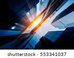 skyscrapers from a low angle... | Shutterstock . vector #553341037