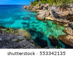 beautiful clear turquoise water ...   Shutterstock . vector #553342135
