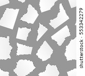 a lot of white torn paper... | Shutterstock .eps vector #553342279