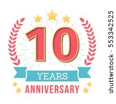 10 years anniversary emblem... | Shutterstock .eps vector #553342525