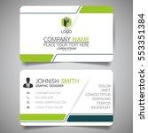 green modern creative business... | Shutterstock .eps vector #553351384