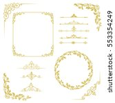 set of vintage elements. frames ... | Shutterstock . vector #553354249