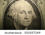 Small photo of Microscopic view of George Washington as seen on the American One Dollar Bill bank note. Photographed through a Microscope for close up details.