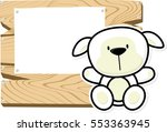 illustration of cute baby sheep ... | Shutterstock .eps vector #553363945