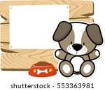 illustration of cute baby dog... | Shutterstock .eps vector #553363981