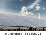clean energy against a blue sky ... | Shutterstock . vector #553368721