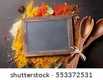chalkboard for your text over... | Shutterstock . vector #553372531