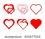 set of hearts | Shutterstock .eps vector #553377325