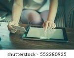 trendy weekend lifestyle. woman ... | Shutterstock . vector #553380925