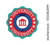 university  academy  school and ... | Shutterstock .eps vector #553382899