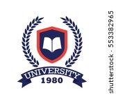 university  academy  school and ... | Shutterstock .eps vector #553382965