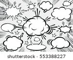 hand drawn of comic bubbles... | Shutterstock .eps vector #553388227