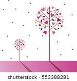 romantic background with trees. ... | Shutterstock .eps vector #553388281
