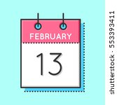 vector calendar icon. flat and...