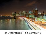 Night Traffic On Fdr Drive As...