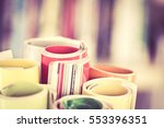 close up edge of colorful... | Shutterstock . vector #553396351