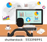 professional business person... | Shutterstock .eps vector #553398991