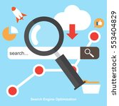 seo   search engine... | Shutterstock .eps vector #553404829