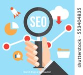 seo   search engine... | Shutterstock .eps vector #553404835