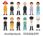 people professions and... | Shutterstock .eps vector #553406359