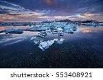 jokulsarlon lagoon  beautiful... | Shutterstock . vector #553408921