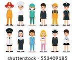people professions and... | Shutterstock .eps vector #553409185