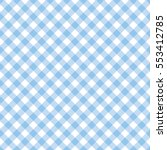 blue and white gingham... | Shutterstock .eps vector #553412785