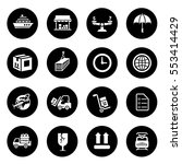 shipping icons | Shutterstock .eps vector #553414429