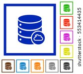 Cloud Database Flat Color Icon...