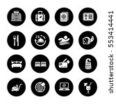 hotel icons | Shutterstock .eps vector #553414441