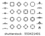 vintage decor elements and... | Shutterstock .eps vector #553421401