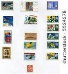 Vintage World Postage Stamp Ephemera (editorial) collection - stock photo