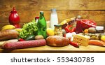 set of fuits and vegatables and ... | Shutterstock . vector #553430785