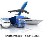 types of transport | Shutterstock . vector #55343683